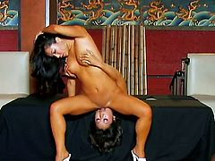 Asa Akira gets her mouth fucked good and hard by Talon