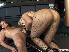 Sexy cutie Vittoria Risi is having fun with some horny black stud. She favours him with a perfect blowjob and then they bang crazily in cowgirl position and also have anal sex.