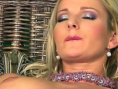 Vanessa Jordin fucking herself with vibrator