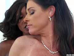 Diamond Jackson and her pale lesbian friend India Summer make a really hot and arousing lesbian sex session on the bed during the weekend afternoon and enjoy in getting pleased