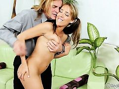 Evan Stone is one hard-dicked stud who loves oral sex with Ella Milano