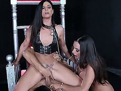 BDSM style fuck lover Ariella Ferrera and her girlfriends are fingered each other and fucked with Johnny Sins