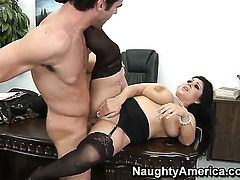 Charles Dera explores the depth of delicious Jaylene Rios wet muff pie with his boner