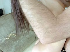 Samia Duarte is an attractive brunette with beautiful brown eyes. She displays her bubble ass and gets her juicy pussy licked form behind before she gives blowjob and gets anally banged.