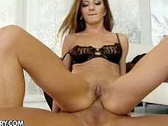 Alice romain getting her holes filled by two cocks