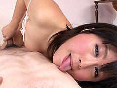 Kyouka is hungry for cock bitch with incredibly good cock sucking skills. She shows off her talent on cam sucking in POV volume. Bonerific porn clip presented by Jav HD.