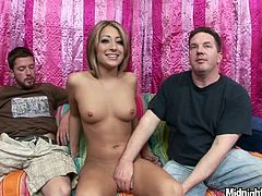 Well, there's no doubt that you'll jizz at once along with Pornstar sex clip. Kinky slim and pale blondie is rather pretty, even though her tits are small. This blowlerina wanna be fed with sticky sperm. So she kneels down between two dudes and give solid blowjobs right away.