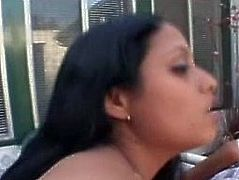Tempting Indian girl is screwed bad on a back yard