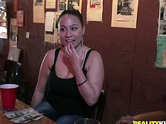 Two amateur girls are convinced (by cash) to have hot lesbian sex in the backroom of this restaurant. They ate pussy passionately!