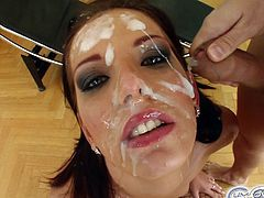 She really needs to have her face filled with cum and mouth filled in gangbang