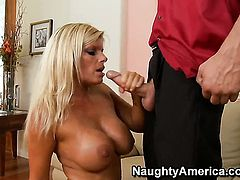Kristal Summers with giant melons and smooth twat enjoys another hardcore session with Chris Johnson