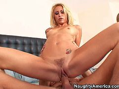 Monique Alexander is a skinny sexy blonde with small tits and bushy pussy. She turns on her friends brother and takes his stiff beefy dick with desire. Watch her suck and ride his love bone.