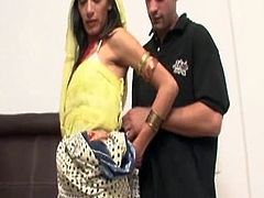 Skinny man is going to experience Indian blowjob from this hottie