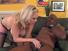 Katie Kox finds man sexy and takes his hard cock in her mouth