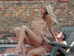 Welcome to enjoy incredibly hot and palatable blondie presented in 21 Sextury xxx clip. Zealous gal with small tits is on the rooftop with her BF. She sucks his delicious lollicock for sperm and starts riding the dick as if there's no tomorrow.