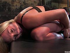 Intense lesbian bondage scene with ropes and lots of asshole-stuffing. Watch them take turns to be either dominant or submissive.