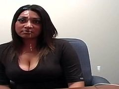 Busty Indian hottie strips on cam to demonstrate her smooth ass and nice boobs