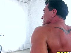 She is extremely dark skinned girl with apple bottom. She blows dripping white cock like vacuum cleaner. Then she tops the shaft bouncing her junk actively. Extremely arousing porn video presented to you by Reality Kings productions.