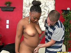 Reality Kings sex clip gives you a chance to enjoy really hot and rather pretty curvy black gal. Ardent chick is a bit plump but still voracious and hot. Kinky gal loves demonstrating her smooth huge ass, which is the cause of my hard boner.
