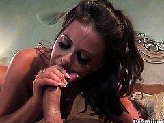 Penny Flame gets her lovely face painted with man semen
