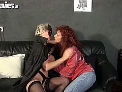 Kinky mature lesbians get busy with eating and tickling each other's cunts