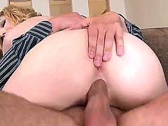 Precious blonde chick Lily LaBeau got her cunt stuffed with tight big cock and passionately riding i