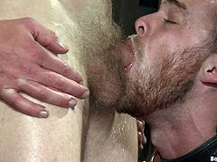 Watch these gay fellas having fun sucking and fucking one another in this bondage scene you'll definitely like.