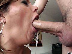 Latin Francesca Le takes dudes hard man meat deep down her throat