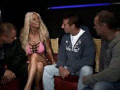 Red Light Sex Trips XXX clip is a kind of guide along the Red Light District. Horny dudes go to the brothel. They see a slim blond and curly slut standing in the entrance. This chick looks really hot in pink corset and can make them jizz if she's paid well.