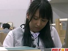 It looks like petite Japanese student chick doesn't want to have sex with her nasty classmate at all, but he doesn't give a single fuck about it. He forces that young bitch to open her legs so that he can finger her wet pussy and then he fucked her in doggy style.Enjoy!