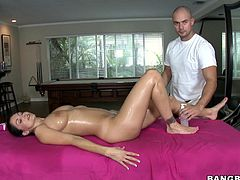 Being a hot porn star it's hard so the French whore Ava pays a visit to her masseur at the spa. She stays on her back as the guy massages her sexy body and then turns on her belly to get that sexy ass massaged too. The guy can't help himself not to grab it hard and that makes Ava horny and ready to fuck.