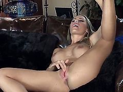 Nicole Aniston enjoys teasing her internet fans with her smoking hot pussy while showing it