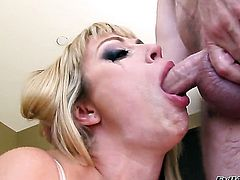 Completely cute hoochie Adrianna Nicole loves getting her mouth stuffed by Jonni Darkko