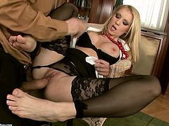 Ardent and horny blondie presented in 21 Sextury xxx clip can make even impotent jizz. Bitchie nympho with sweet boobs and awesome rounded ass desires to get her wet pussy polished. But the first thing to do is surely to demonstrate her ability in giving a footjob to a strong hot cock.