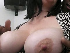 This horny bbw with huge natural titties knows how to get what she wants! And she wants nothing more than a big black cock in her fat cunt!