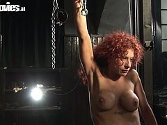 Red haired slut  takes part in hot threesome scene
