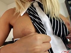 Vinnie is a smoking hot milf with unfulfilled needs. Three guys work on her holes, filled each at the same time for her satisfaction.