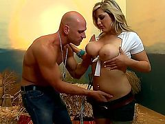 Dayna Vendetta with massive hooters gets the fuck of her dreams with horny bang buddy Johnny Sins