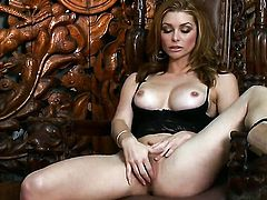 Heather Vandeven gets nude and fucks herself with sex toy