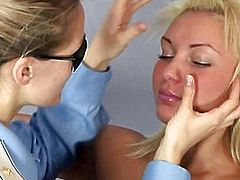 Special gyno test for hot blonde babe
