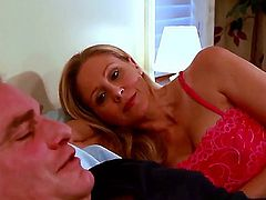 Evan Stone inserts his man meat in ultra hot Julia Anns mouth