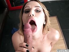 Aleska Diamond is in heaven eating dudes thick love stick