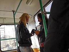 Hot blonde gets filmed upskirt in public session and has her panties revealed