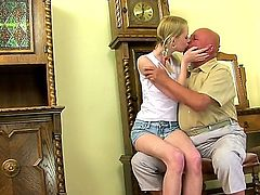 Tempting slutty teens Ann Marie La Sante, Ashley, Beata Undine, Berinice, Chary Kiss, Doris Ivy, Jenni, Lana S, Nesty and Nikky Thorne get fucked by grandpas one by one.