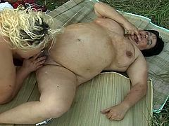 There is no need for greasy cocks here as these hot lesbian heavy hitters get super nasty in outdoor pussy playing and food fetish lesbian session.