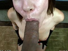 This girl might not look that attractive, but hey, she knows how to get that cock in her sweet mouth. She is a blowjob girl and Sasha never refuses!