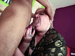Make sure you take a look at this hardcore scene where a mature BBW is banged by a guy who leaves her with a mouthful of cum.