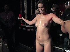 A fucking dirty bitch is tied up and toyed with in this perverted scene with ropes gags and whatnot, check it out right here!