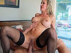 Brandi Love gets on Johnny Sins cock and doesnt want to come off of it, she want to ride it more