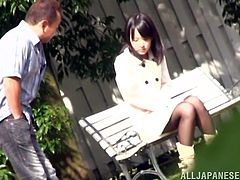 This pretty Japanese honey Mikako Abe is enjoying her time with that man! She gives him a nice blowjob and then he drives her crazy!